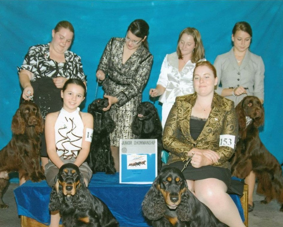 A group of Juniors with their Field Spaniels Copy